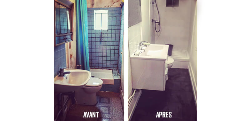 R novation salle de bain belmard batiment for Renovation mur salle de bain